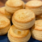 biscuits on a blue plate