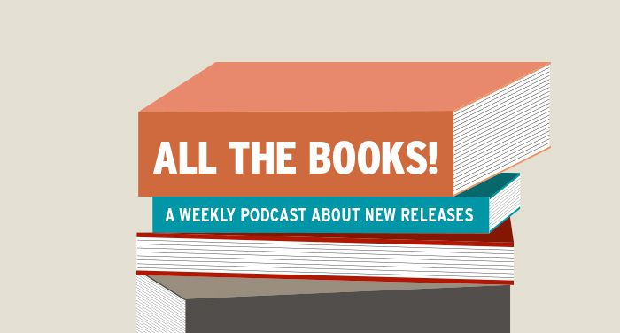 All the Books logo, a stack of books reading 'all the books, a podcast about new releases'