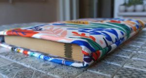image of floral print book sleeve