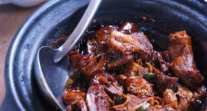stew type meat in a bowl for cookbooks