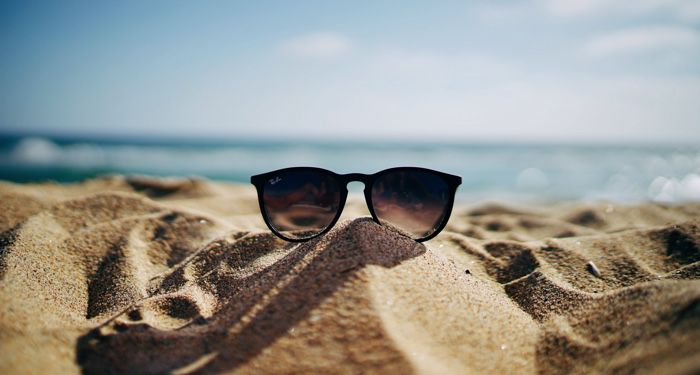 sunglasses on the beach for summer