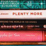 cookbooks in a stack