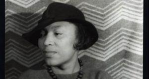 black and white image of Zora Neale Hurston https://commons.wikimedia.org/wiki/Category:Zora_Neale_Hurston#/media/File:Portrait_of_Zora_Neale_Hurston_LCCN2004663047.tif