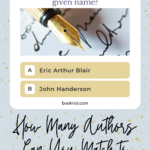 How Many Authors Can You Match to Their Pen Name graphic
