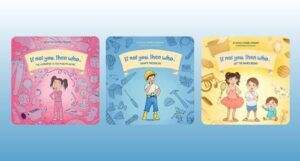 covers of first three books in the IF NOT YOU, THEN WHO series by David Pridham and Emberli Pridham against a white and light blue gradient backdrop