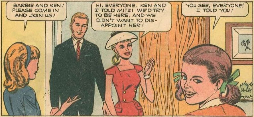 Panel from Barbie and Ken comic.