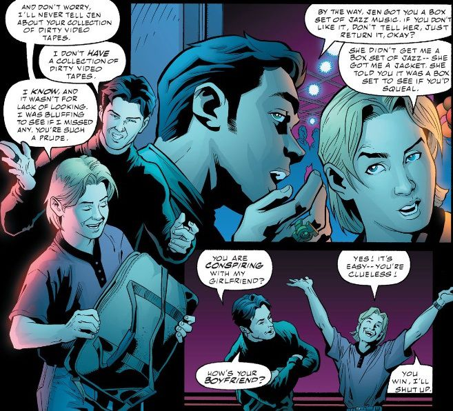 panel from Green Lantern #140 featuring Kyle and Terry