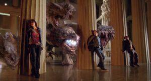 Logan Lerman, Brandon T. Jackson, and Alexandra Daddario in Percy Jackson & the Olympians: The Lightning Thief (2010)