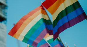 Rainbow flags for queer feature