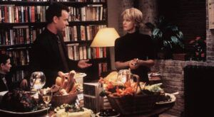 Still from You've Got Mail, inside of a bookstore.