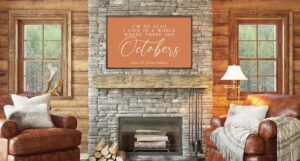 Image of large piece of art with Anne of Green Gables quote