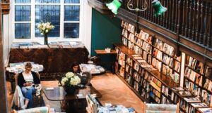 image of Daunt Books bookstore in London