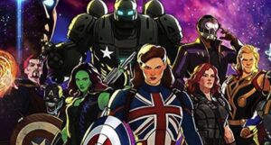 """still frame from animated Marvel series 'What If...?"""""""