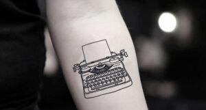 typewriter temporary tattoo