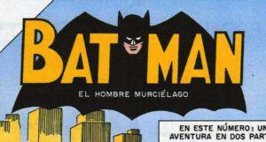 cutout from cover of a Mexican Batman comic (Batman, El Hombre Murcielago)