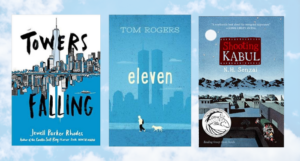 three of the book covers listed on a cloud background