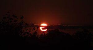 spooky sunset