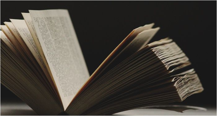 a large open book