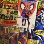collage of retro comic books